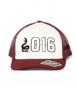 petrol white trucker cap snake legend