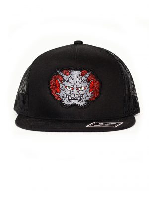 gray demon snapback trucker black