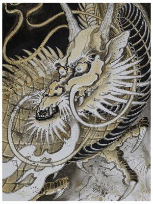 dragon on sky poster snake legend