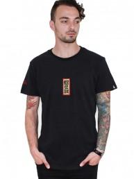 dragon with leaves black men t-shirt snake legend