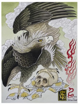eagle with skull poster