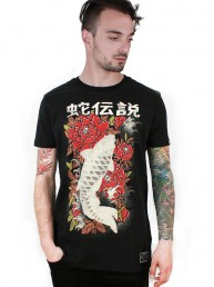 koi fish men t-shirt black