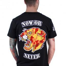 now or never men tee snake legend