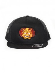 orange demon snapback trucker black