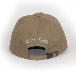 Skull with knife brown cap snake legend