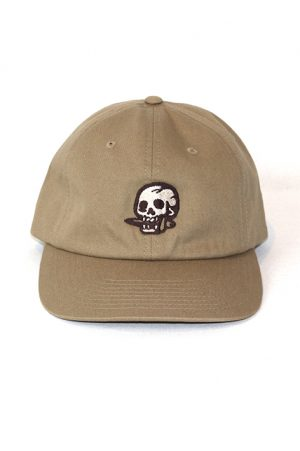 .Skull with knife brown cap snake legend front