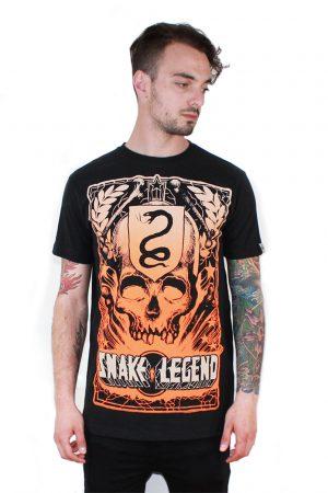 skull explosion men t-shirt snake legend