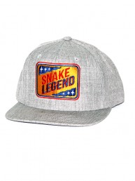 snapback gray embroidery