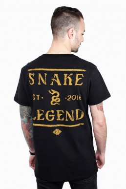 snake legend shark tee men black