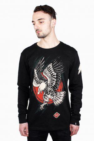 Eagle black long sleeve shirt snake legend